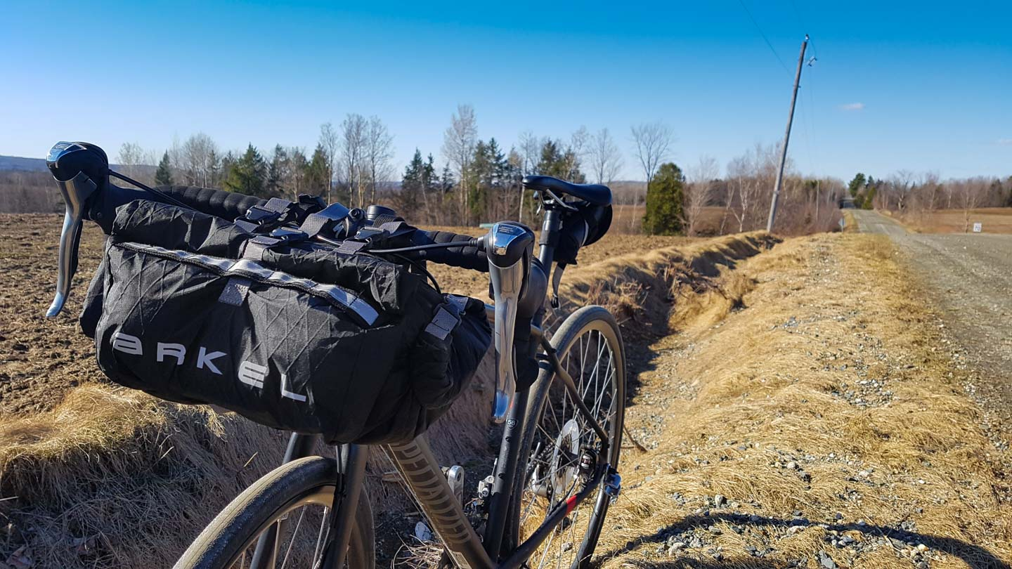 Arkel Rollpackers in handlebar bag configuration
