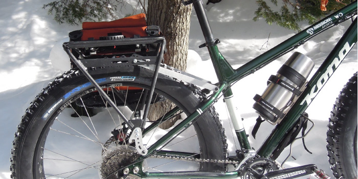 Arkel pannier with Old Man Mountain Fat Bike rack