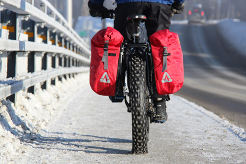 Fat Bike - Arkel Dolphin-40 panniers on Surley Pugsley
