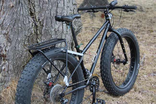 Fat Bike - Rear pannier rack on Surley Pugsley