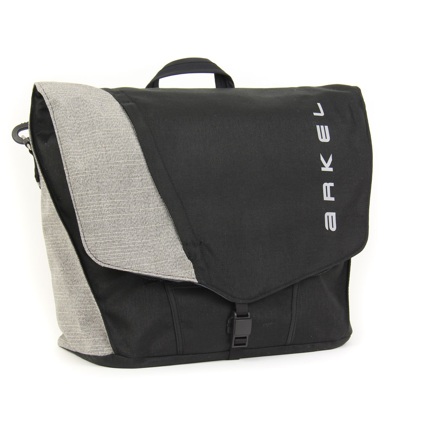 Briefcase Laptop Pannier In Black Grey Color