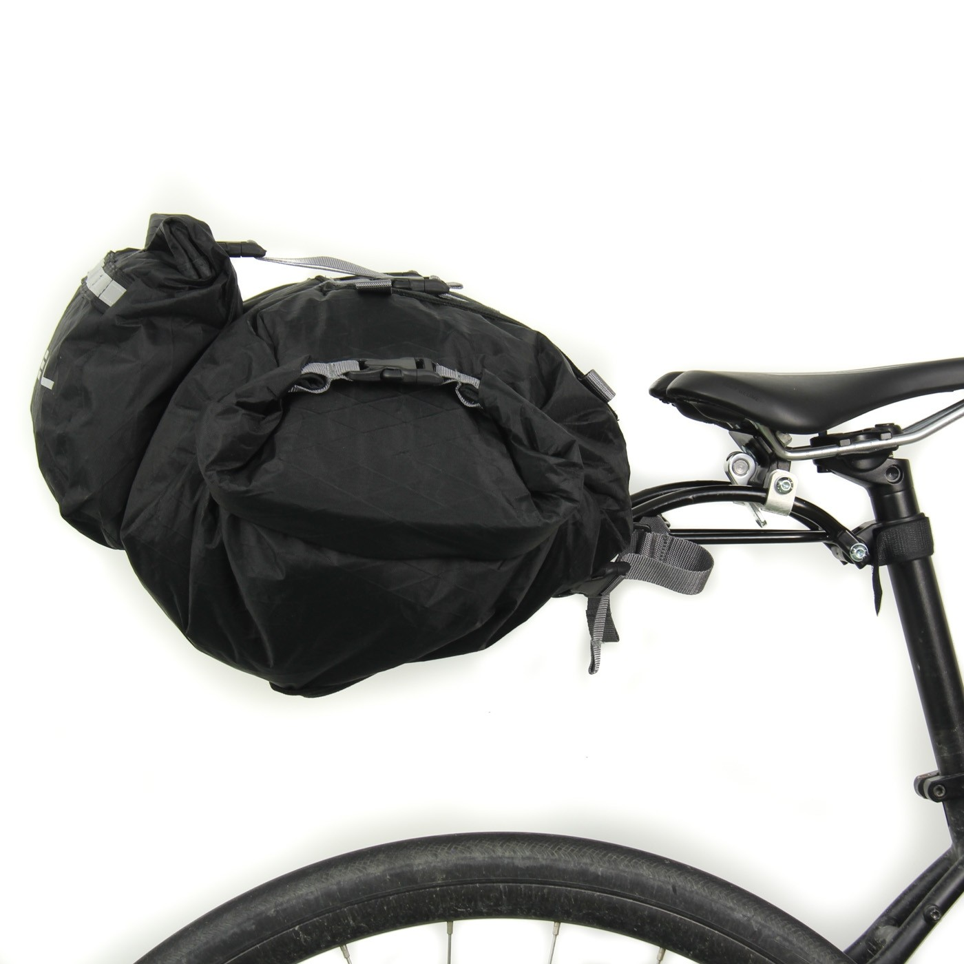 rollpacker 25 waterproof bikepacking seat bag
