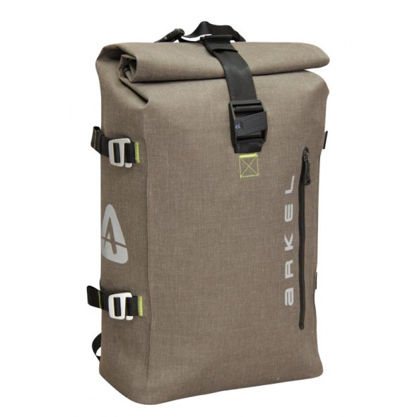 Arkel Drypack cycling backpack in the color coffee