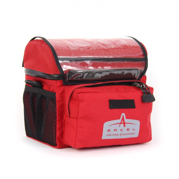 Arkel Waterproof Handlebar Bag Small Red