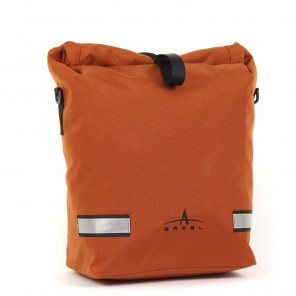 The Signature V waterproof urban pannier in copper