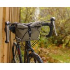 Arkel Signature BB waterproof handlebar bag olive installed on drop bars