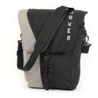 Commuter urban pannier in black with shoulder strap