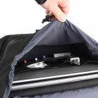 Briefcase laptop pannier with padded laptop compartment and organizer