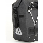 ORCA 35 waterproof pannier with blinker light tab and reflective material