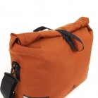 Arkel Signature H bike pannier waterproof roll-top closure.