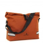 Arkel Signature H waterproof urban laptop bike pannier in copper with shoulder strap
