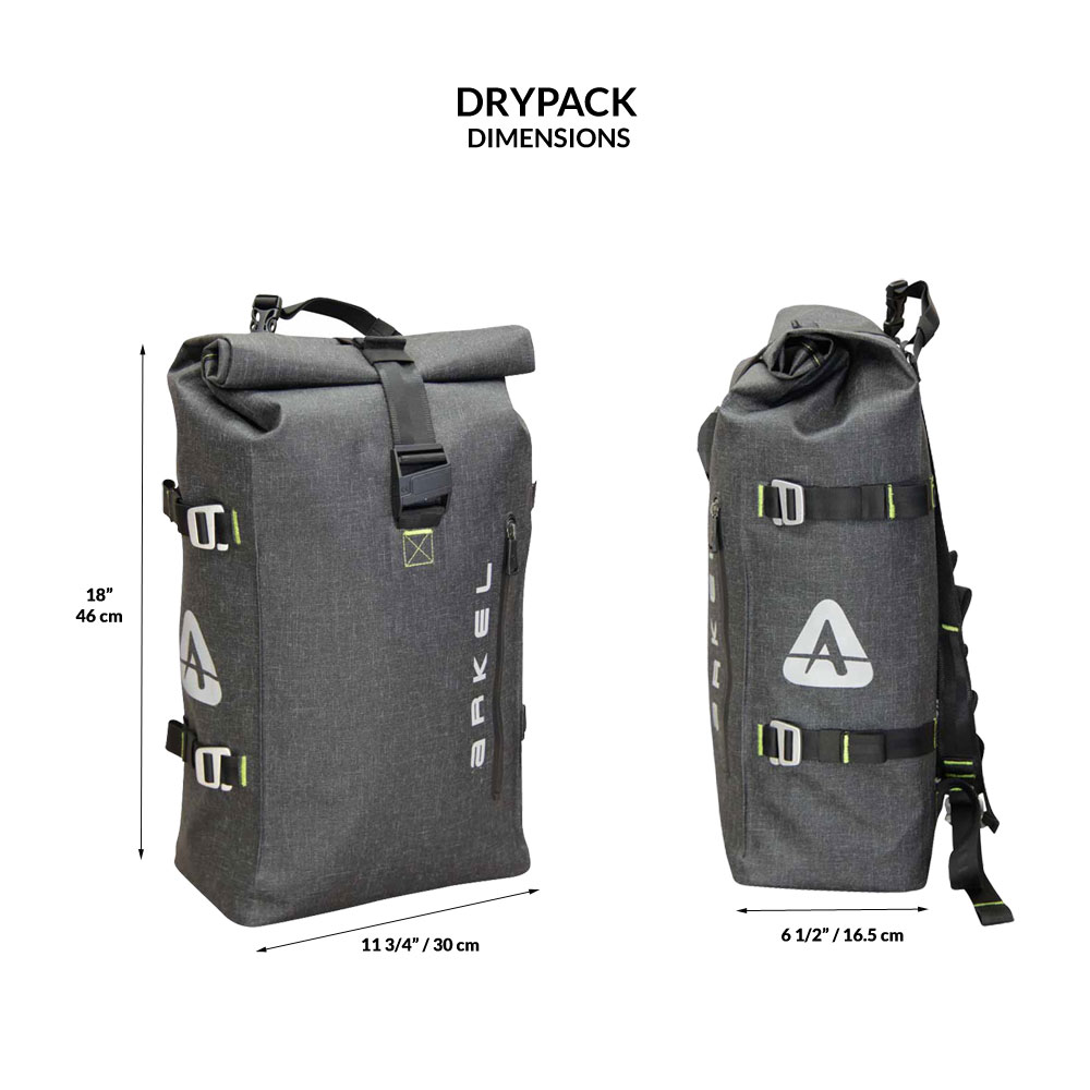 Drypack Cycling Backpack - Commuter Bike Bag  df4f921f40d72