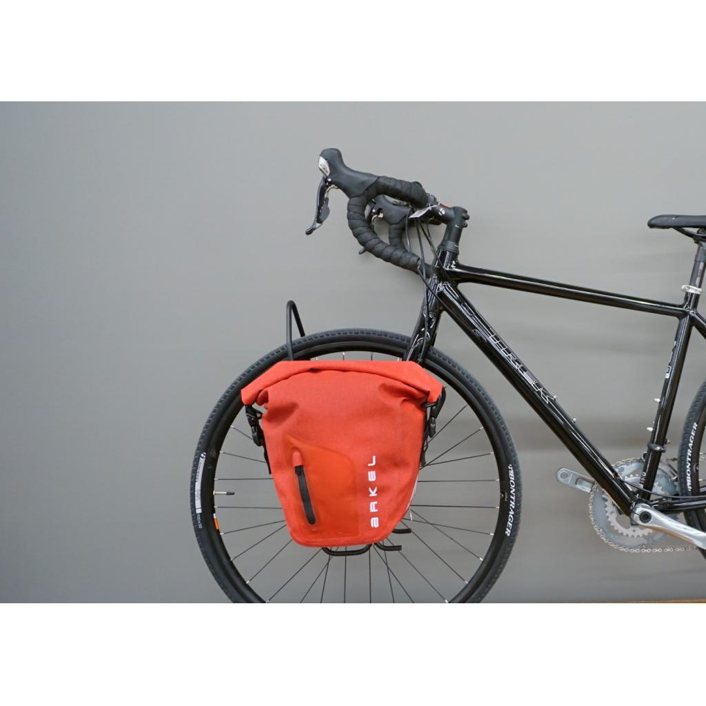 Panniers hang low and provides great handling.