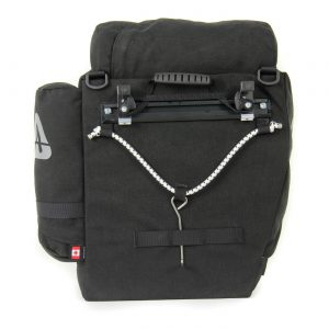 rear view with Cam-Lock® mounting system of the Arkel T-42 pannier.