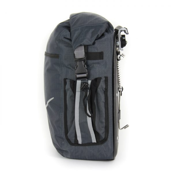 Dolphin 32 Grey Waterproof touring Panniers with side pockets