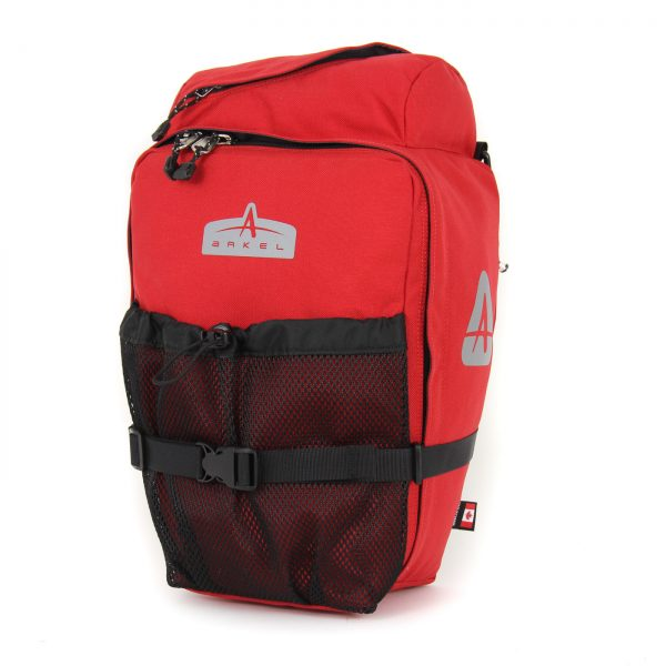 Arkel T-28 pannier in Red
