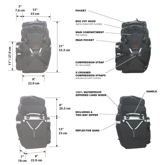 XM-45 Bikepacking Panniers (pair)-959