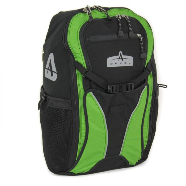 Convertible Pannier Backpack Black with Lime - Arkel Bug