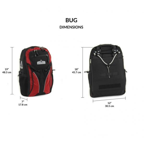 Arkel Bug - Pannier Backpack - Dimensions