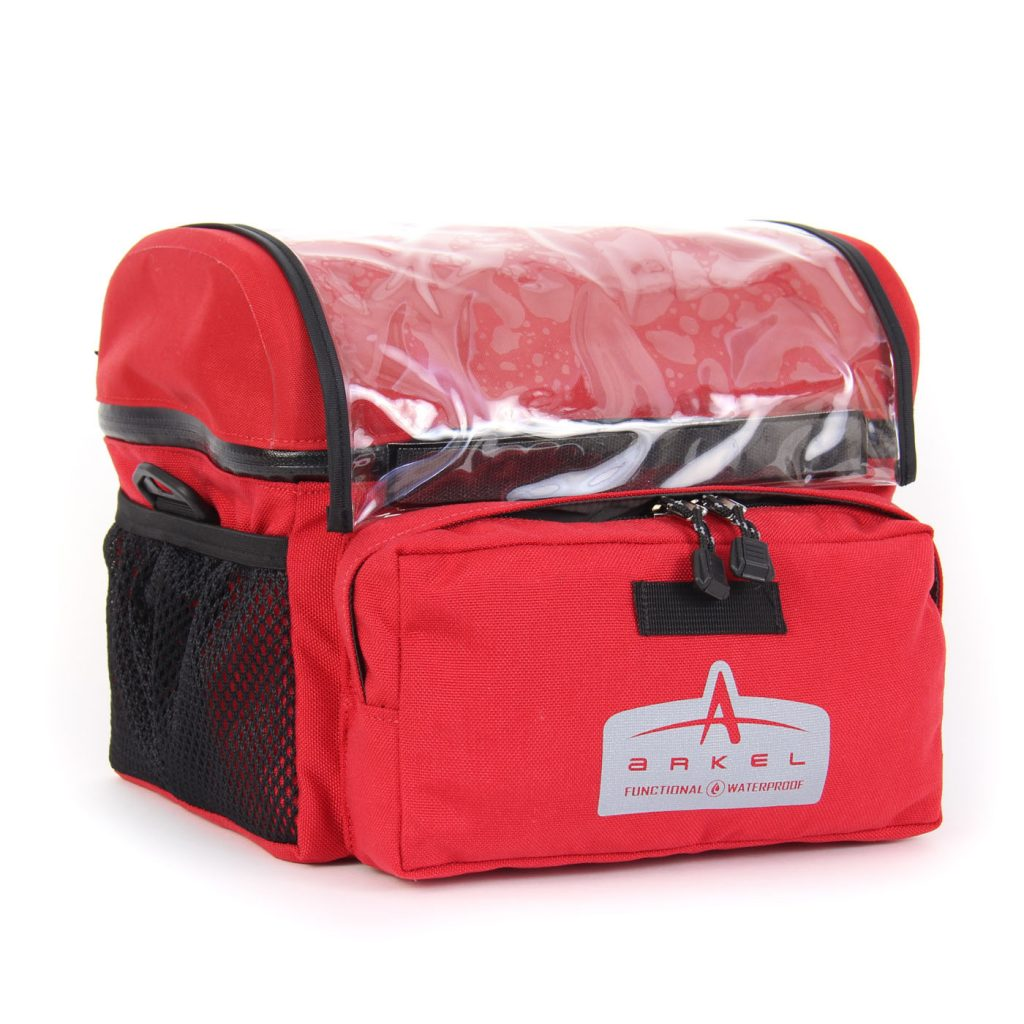Arkel Waterproof Handlebar Bag Large - Red