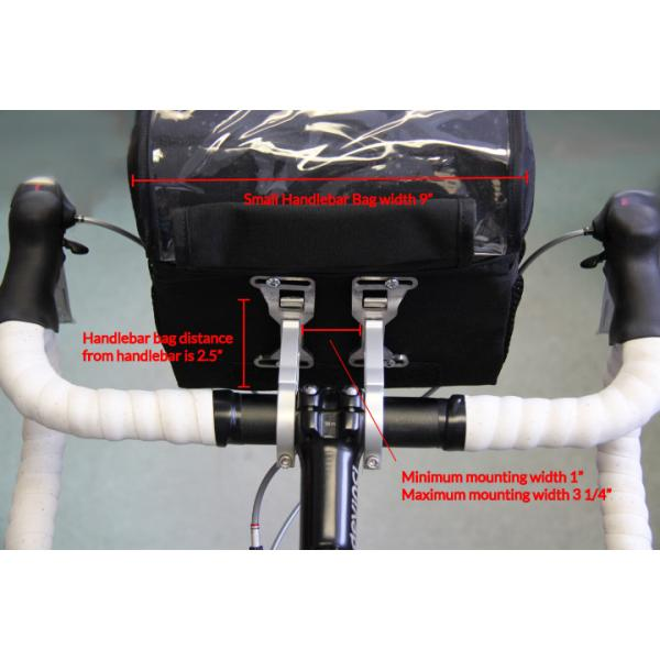 Arkel Waterproof Handlebar Bag Small - Adjustment Details