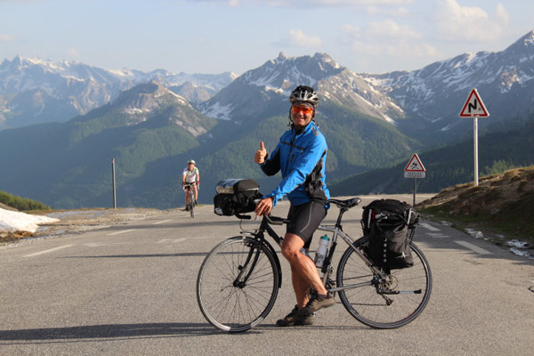 Arkel Owner Paul McKenzie cycle touring in France