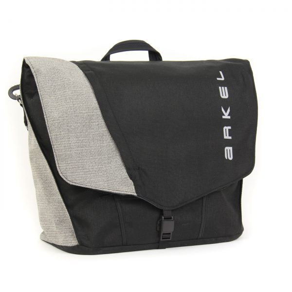 Briefcase laptop pannier in black/grey color
