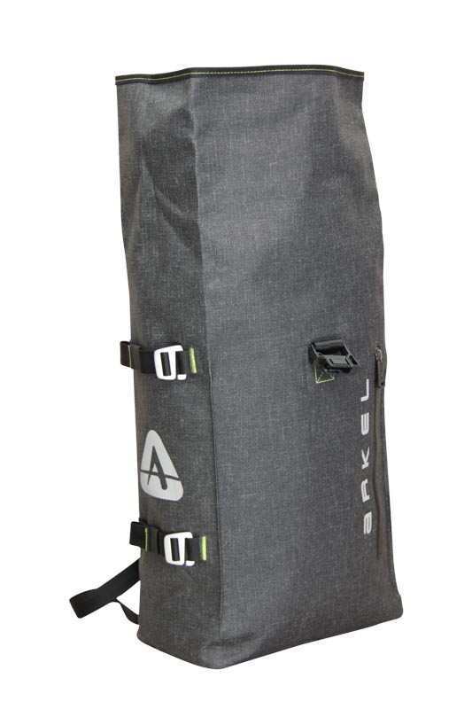 Arkel Drypack cycling backpack view when fully opened