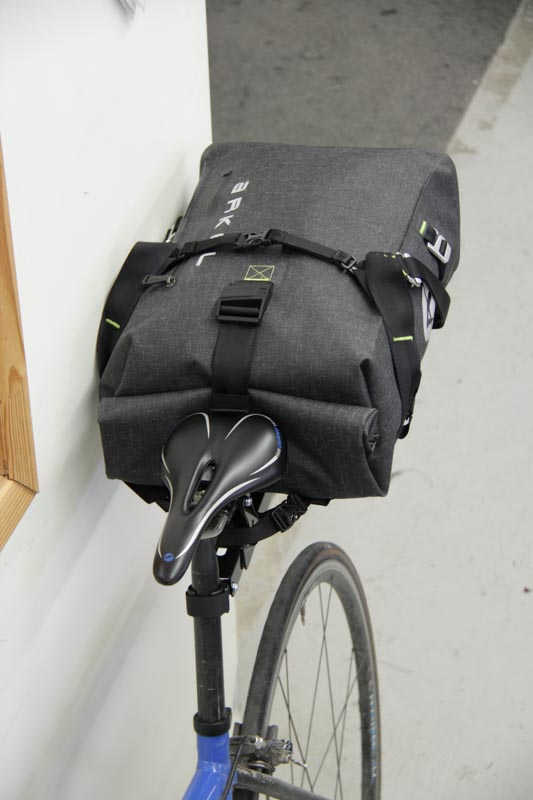 Arkel Drypack cycling backpack installed on the Randonneur Rack®