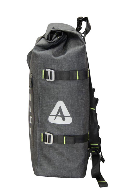 Arkel Drypack cycling backpack side view