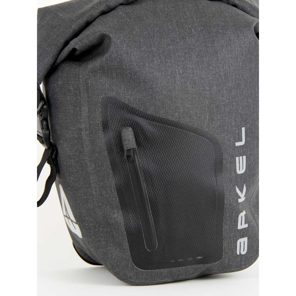 ORCA 35 waterproof panniers have a front zippered pocket