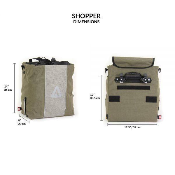 Shopper pannier dimensions
