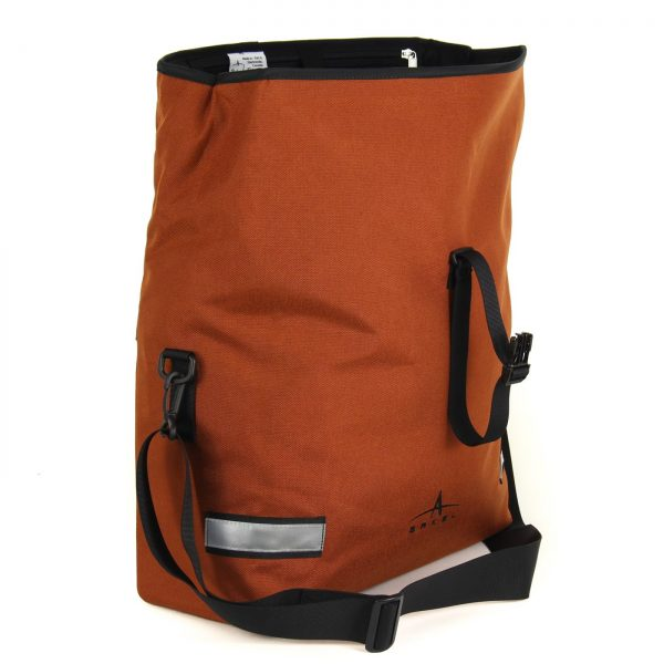 Arkel Signature H waterproof urban bike pannier with multiple D-rings for shoulder strap.