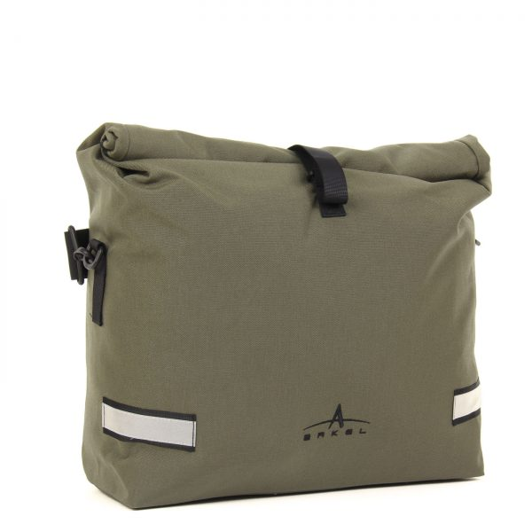 Arkel Signature H waterproof urban bike pannier in olive