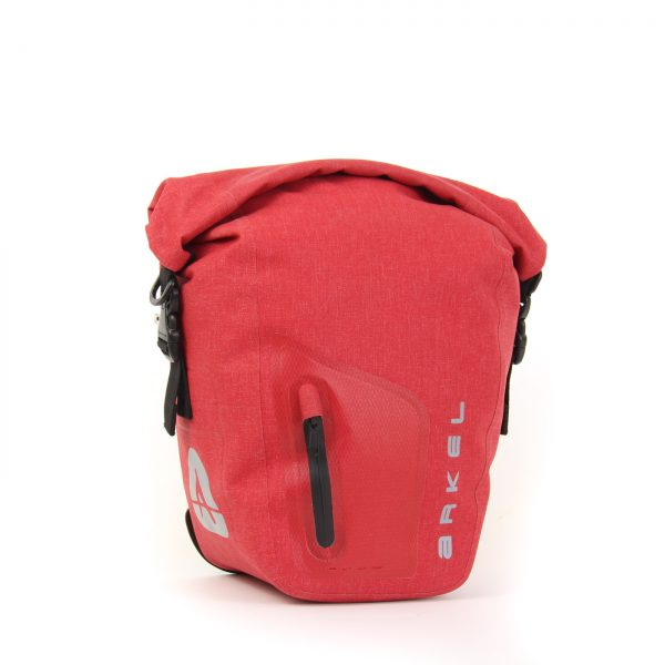 ORCA 25 front or rear waterproof panniers in red