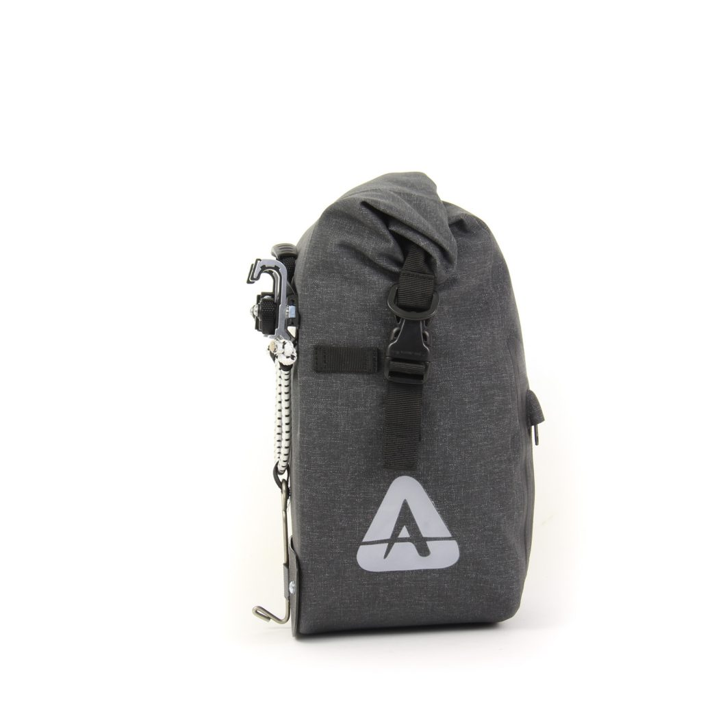 ORCA 25 waterproof touring panniers side view