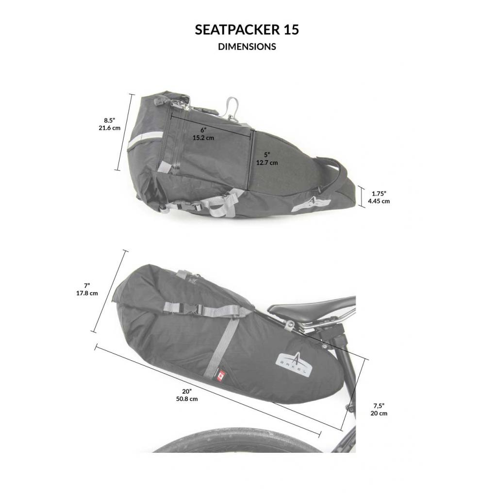 Seatpacker 15 Bikepacking Seat Bag (patent pending)-2465