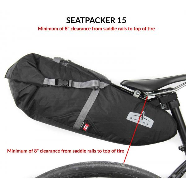 Seatpacker 15 Bikepacking Seat Bag (patent pending)-2644