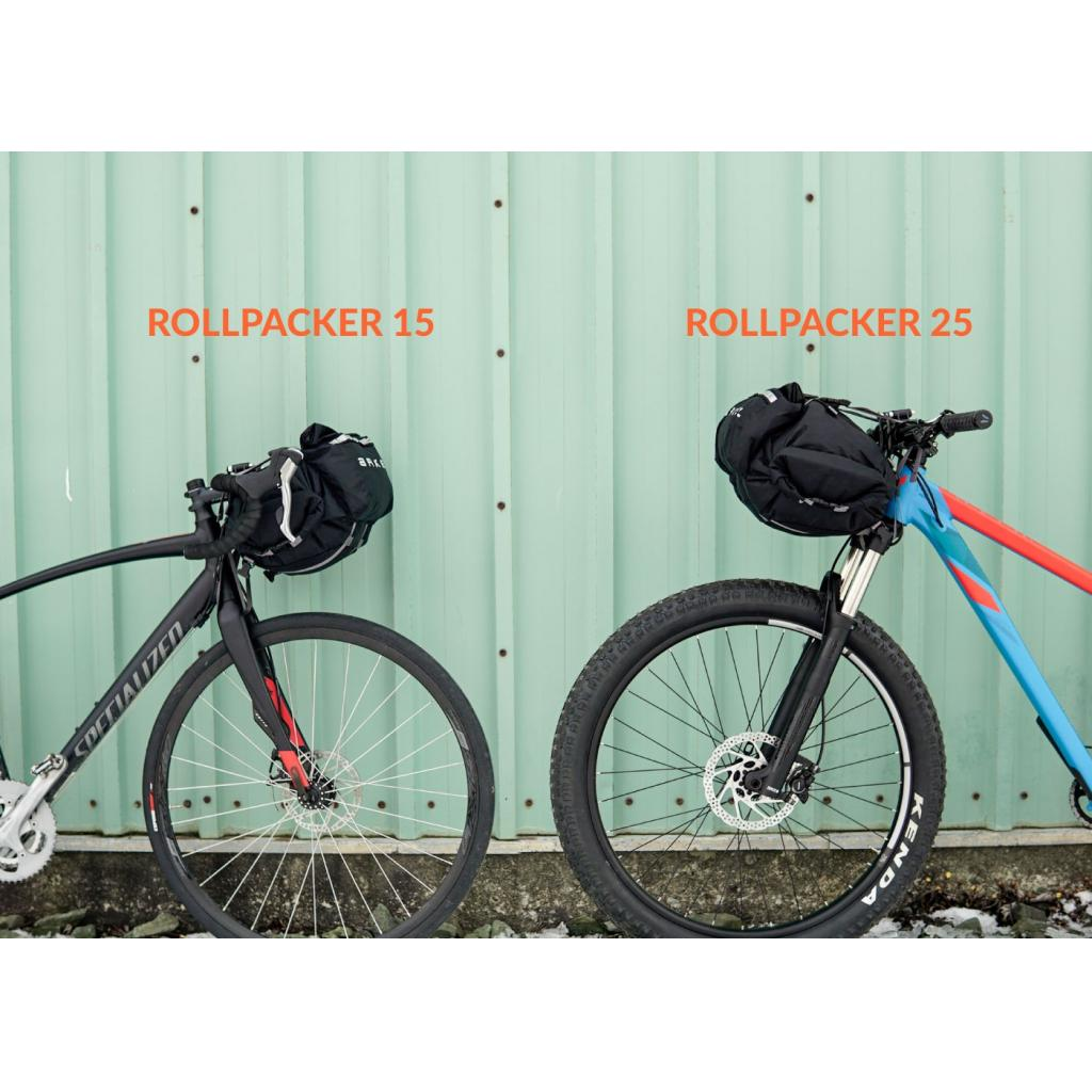 Rollpacker® 25 FRONT Bikepacking Bag - FULL KIT (patent pending)-2887