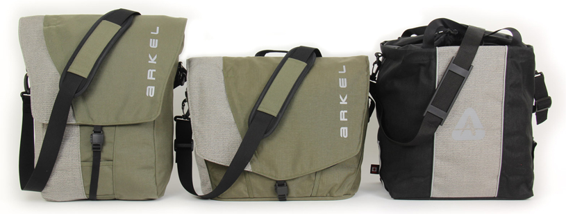 Arkel Classic Series laptop panniers and backpacks